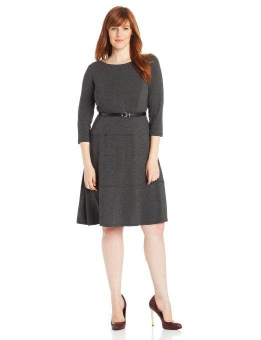 Anne Klein Jersey Swing Plus Size Dress – | Dress Ideas