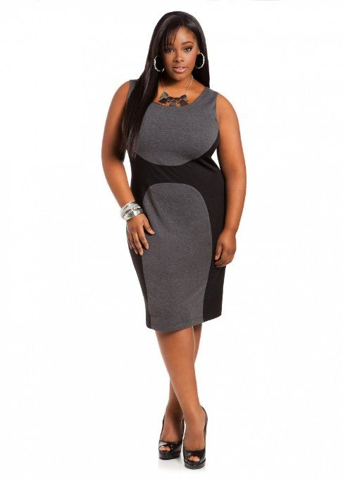 Ashley Stewart Grey Gable Plus Size Dress – | Dress Ideas