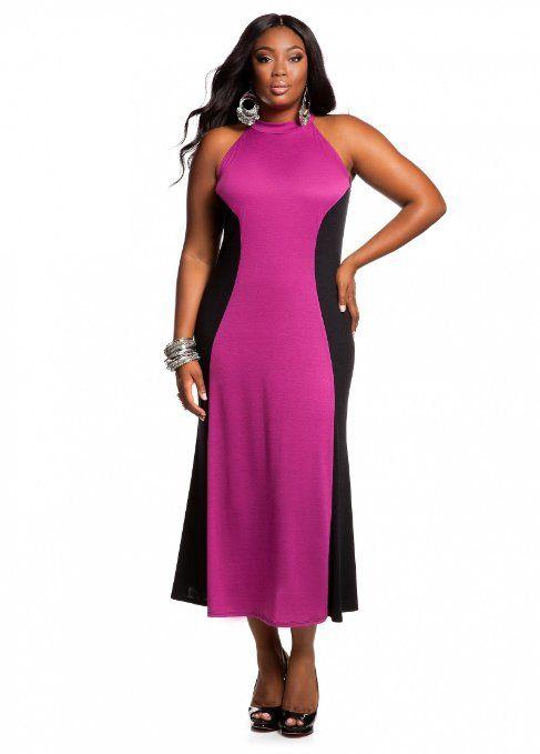 ddbc54f4be761 Ashley Stewart Plus Size Color Block Dress –